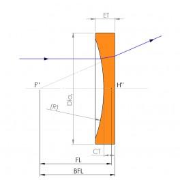 Plano Concave BK7 Lens - 12.7mm dia